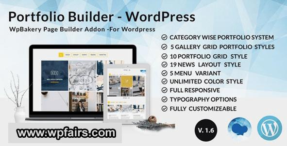 XG Portfolio - Grid masonry portfolio filter plugin for Wpbakery Page Builder (visual composer) - wpFairs