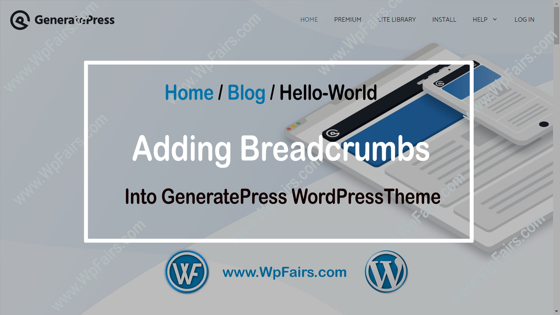 How To Add Breadcrumb For Generatepress WordPress Theme